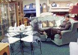 Jackie in the Homeaid showroom