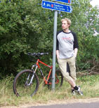Anthony with bike