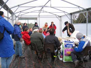 talks at the allotments