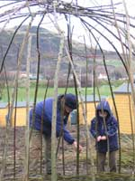 willow weaving at the allotments